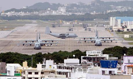 The US marines Futenma base on Okinawa, Japan