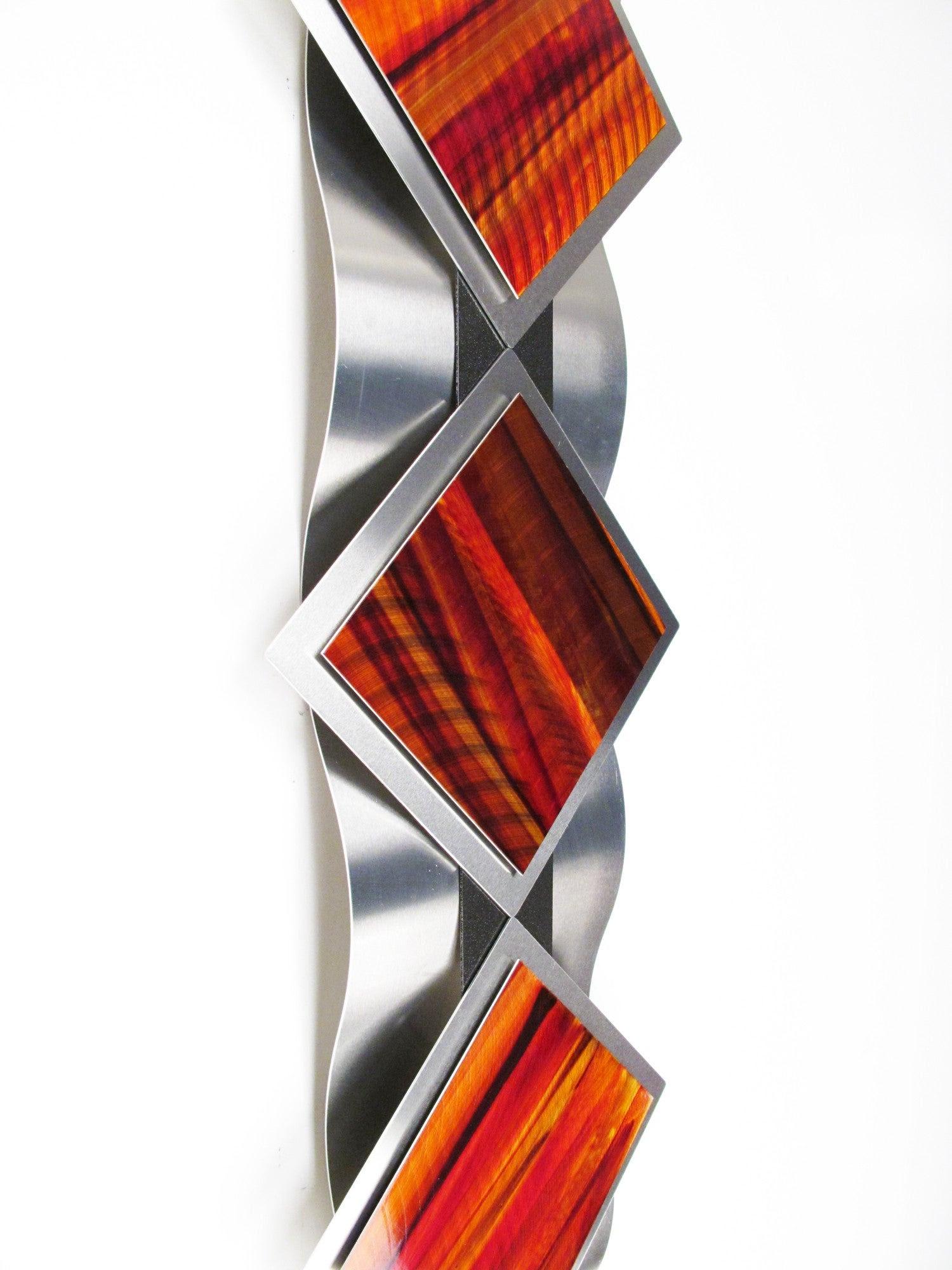 """Reflections Series"" Modern Abstract Metal Wall Art ..."