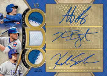 2017 Topps Triple Threads Baseball Triple Threads Autograph Relic Combo Card Sapphire