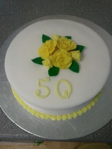 Yellow Roses 50Th Anniversary   CakeCentral.com