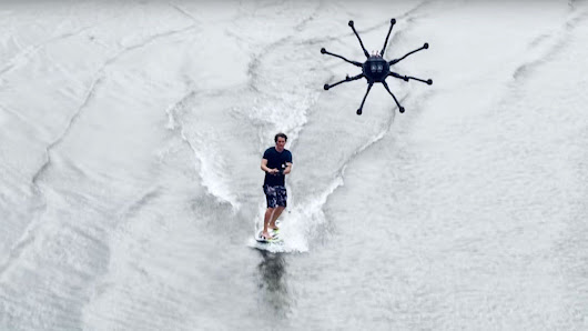 Drone Surfing : The future of extreme sports? -