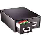 STEELMASTER - Card filing cabinet - 2 drawers - steel - black