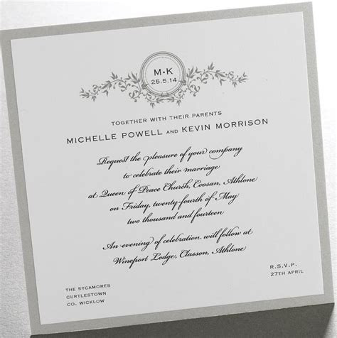 Finer Details :: Wedding Invitations Ireland :: Vines Initials
