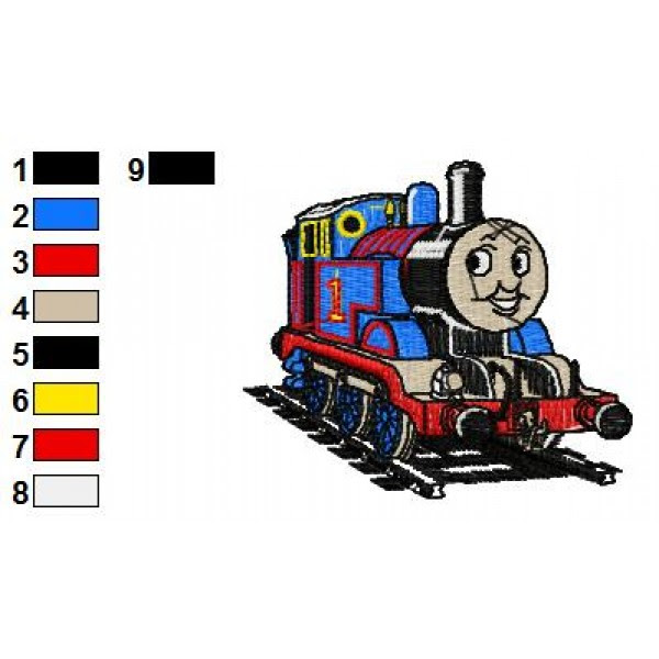 Thomas The Train Gordon Embroidery Design