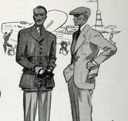 Vanity Fair Jan 1935 knitted jersey (right)