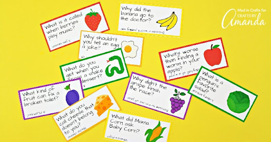 Lunchbox Joke Cards: funny printable joke cards for kids