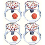 4 Swimline 9162 Swimming Pool Quality Floating Super Hoops Fun Basketball Games