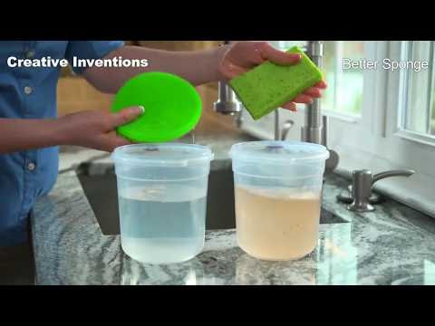 silicone washing up sponge