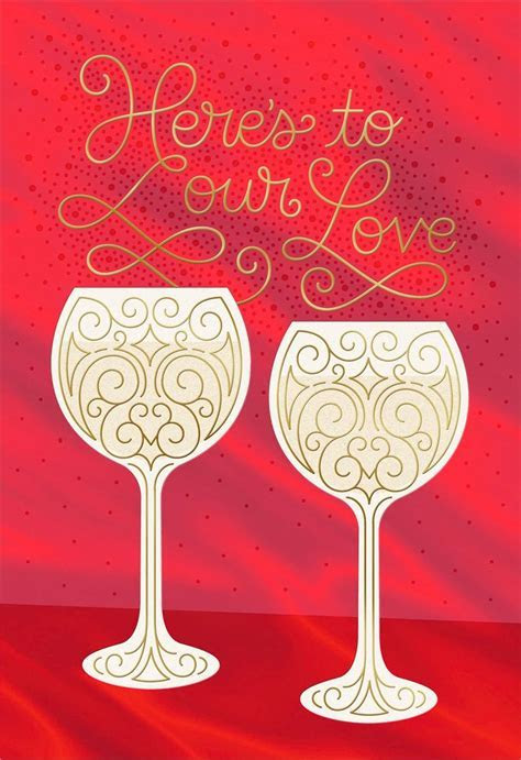 A Toast to Our Love Romantic Valentine's Day Card