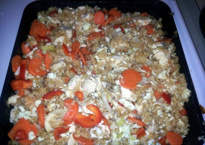 Recipe: Perfect Chicken Fried Rice using leftovers
