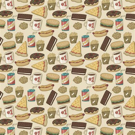 Food Pattern Wallpaper Tumblr   Pattern: Junk Food by Cup