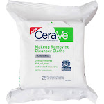 Cerave Cleanser Cloths, Makeup Removing, Ultra Gentle - 25 towelettes