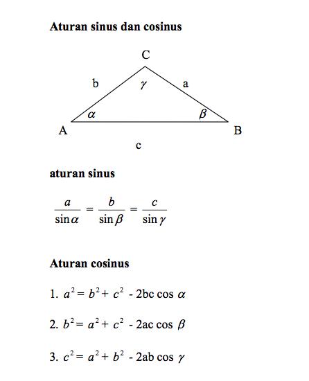 Aturan Sinus Cosinus Dan Luas Segitiga : aturan, sinus, cosinus, segitiga, Populer, Aturan, Sinus, Cosinus, Segitiga