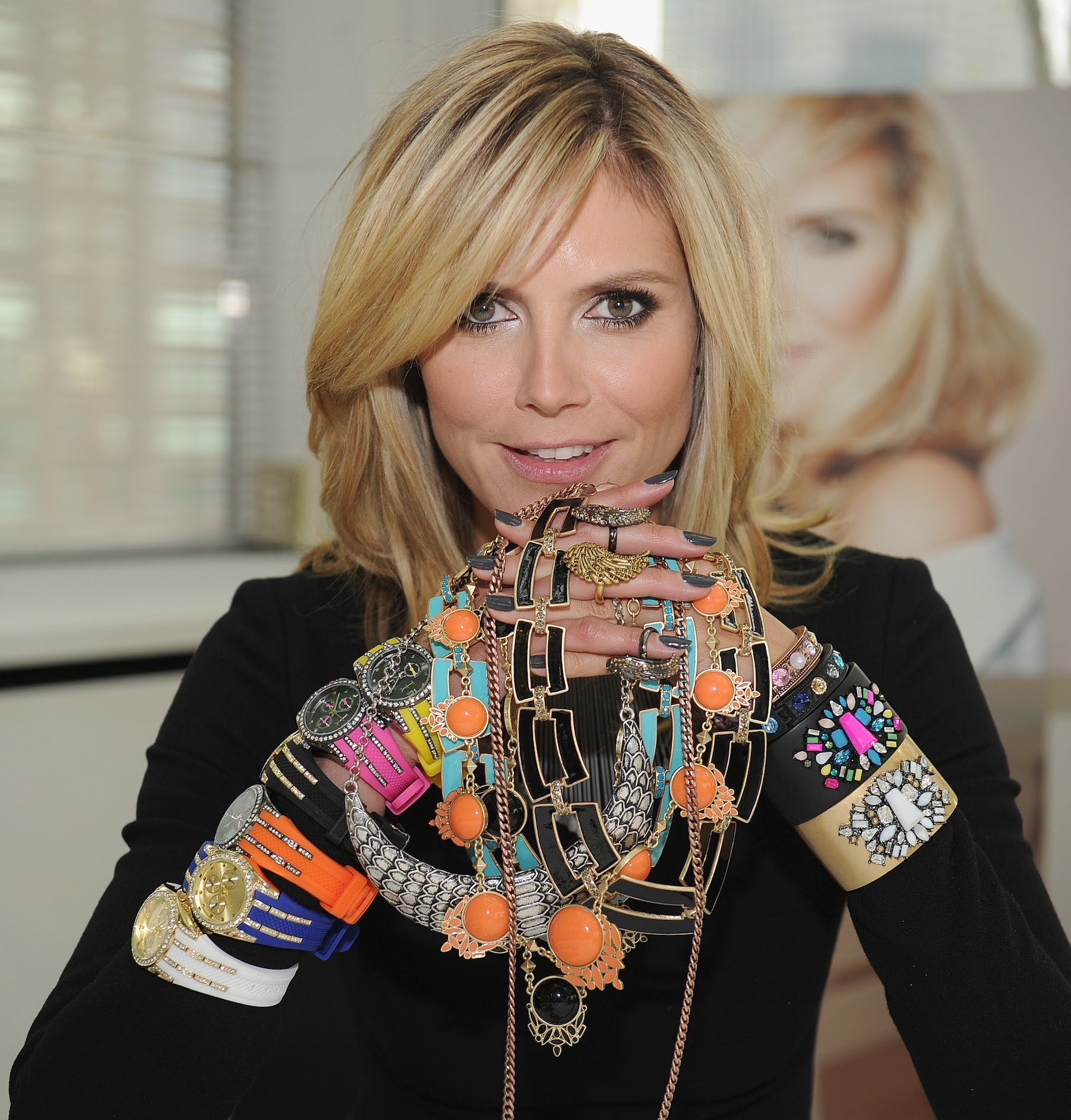 Heidi with pieces from the Wildlife by Heidi Klum QVC Collection (Dimitrios Kambouris/Getty Images for QVC)