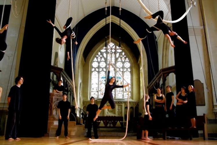 The former St. Paul's church in Bristol, England, is now the Circomedia circus training school.