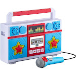 Mother Goose Club Sing Along Boombox with Microphone, Built in Music, Flashing Lights, Real Working Mic for Kids Karaoke Machine, Connects Mp3...