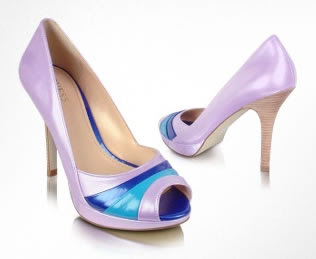 Purple Peep Toe Pump Shoes - Sexy Shoes from Guess