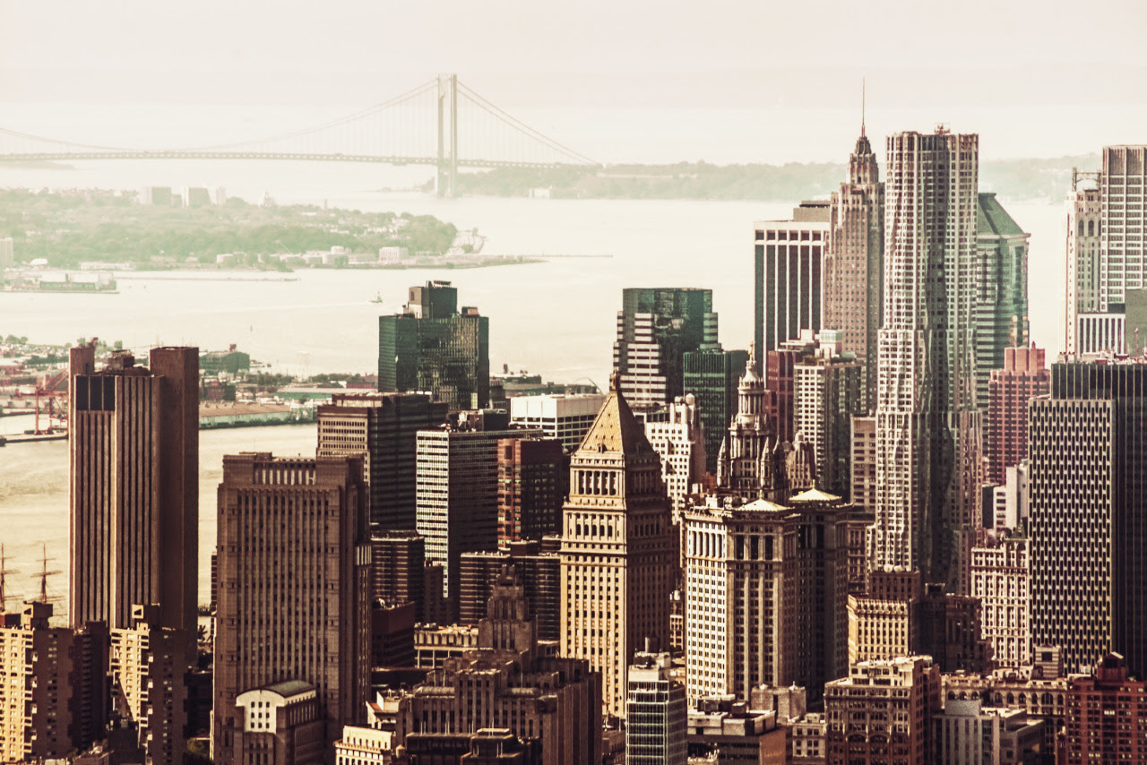 The New York City skyline in the Financial... | NY Through ...