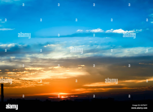 Evening cloudy sunlight Stock Photo, Royalty Free Image: 165885775 - Alamy