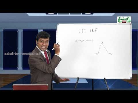 JEE Maths Complex Number Kalvi TV