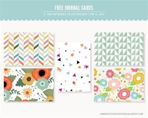 Patterned 4x6 Journal Cards   Free / Printables   Luvly