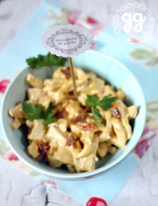 insalata di pollo alla maionese di acciughe