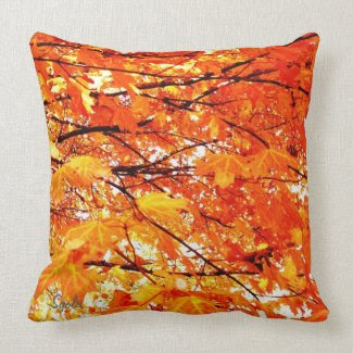 Falling Leaves Maple Leaves Pillow