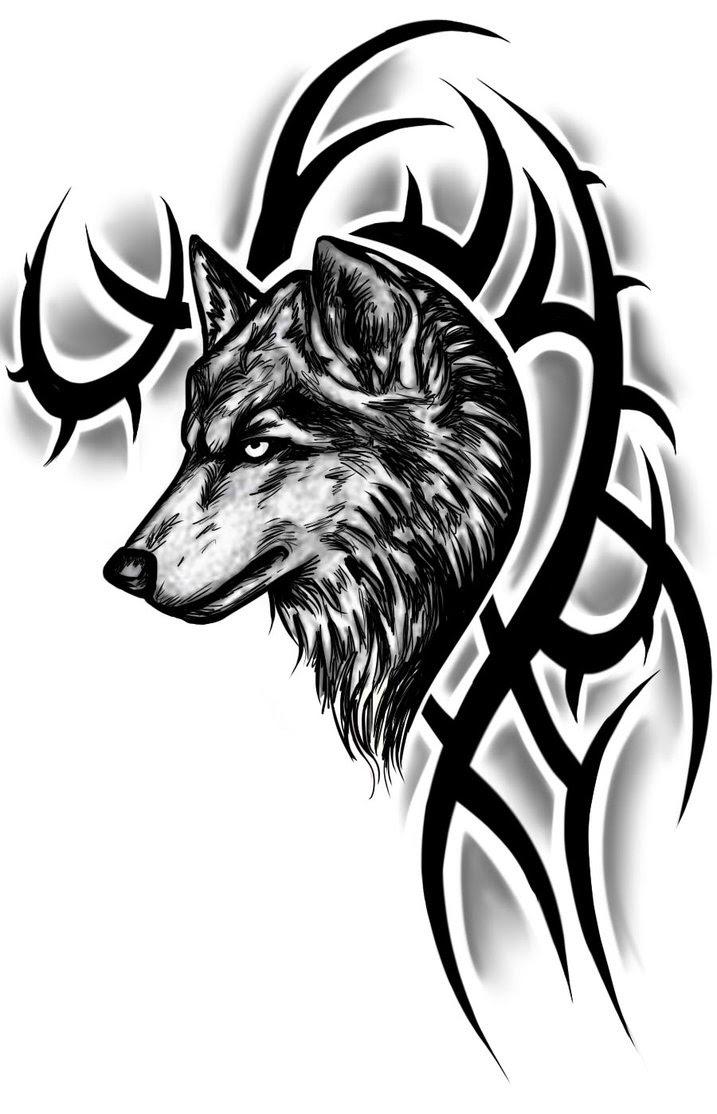 Tribal Wolf Tattoo Design Wolf Tattoo For Men Tattoomagz