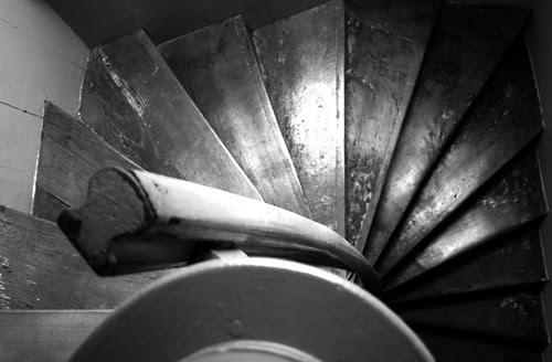 Spiral staircase crop bw