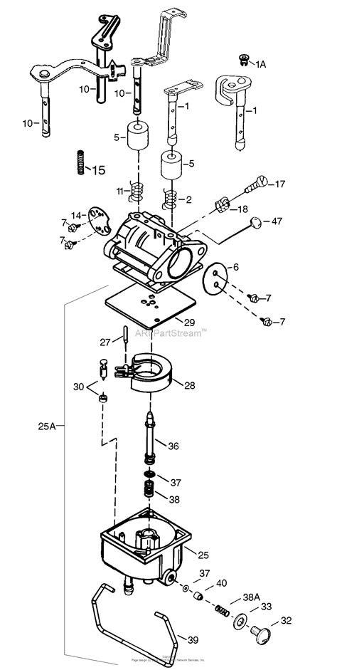 Tecumseh TEC-640065 Parts Diagram for Carburetor