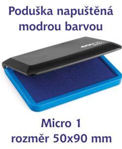 Modrá razítkovací poduška M 1