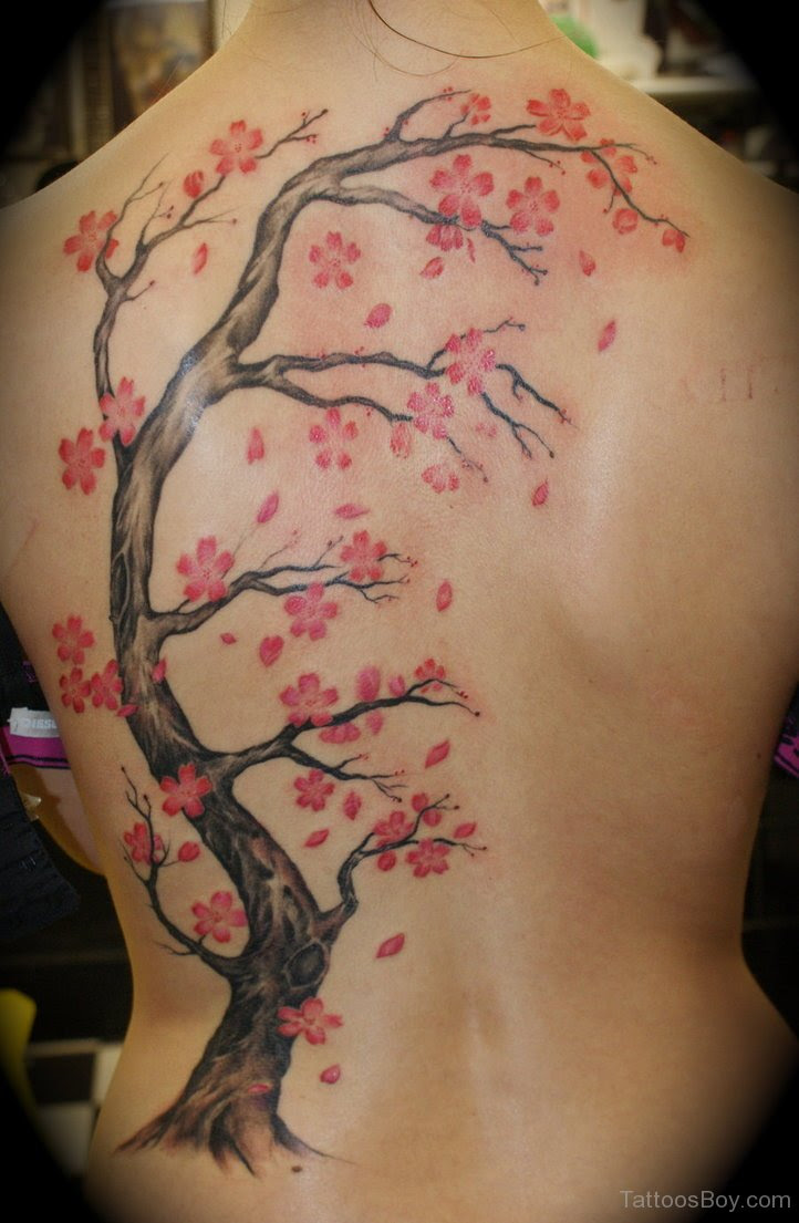 Cherry Blossom Back Tattoo Tattoo Designs Tattoo Pictures