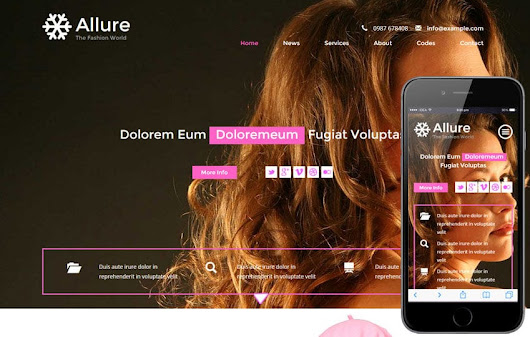 Allure a Fashion Category Flat Bootstrap Responsive Web Template by w3layouts