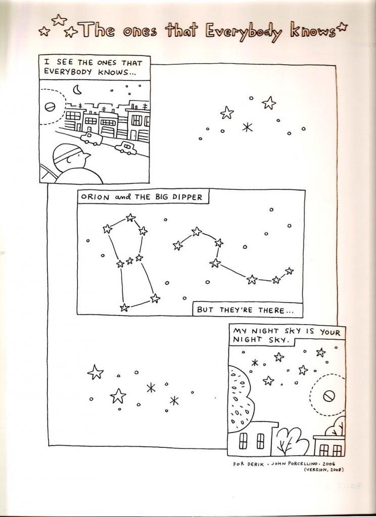 a haiku-like comic by John Porcellino