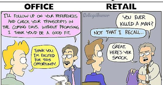 Office Job vs Retail Job