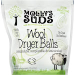 Mollys Suds Dryer Balls, Wool - 3 balls, 9.04 oz