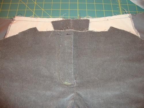 fly front zipper trouser sample!