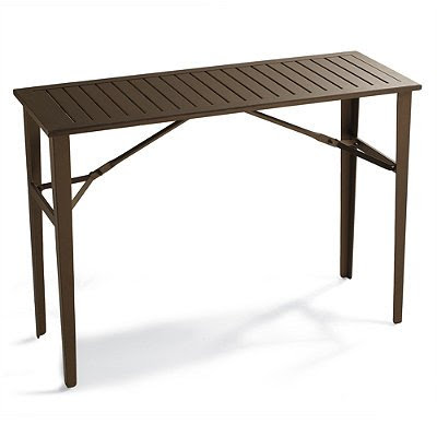 Folding Counter-height Table – Frontgate, Patio Furniture Reviews ...