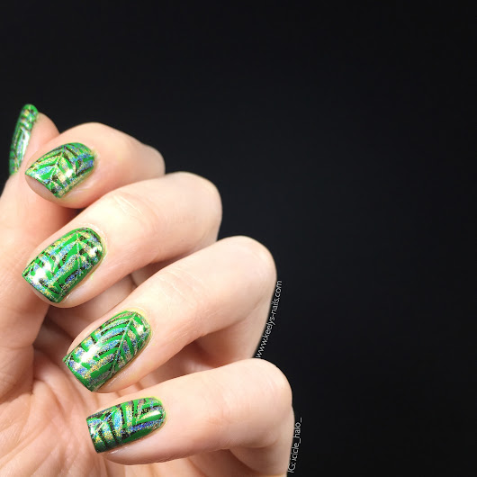 Leafy Green Nail Art and trying out double stamping