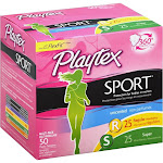 Playtex Regular and Super Sport Tampons - 50 count