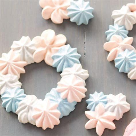 Baby Blue and Pink Meringue Wreaths   Wilton