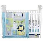 Trend Lab Crib Bedding Set - Jungle Roar - 4pc, Blue Green