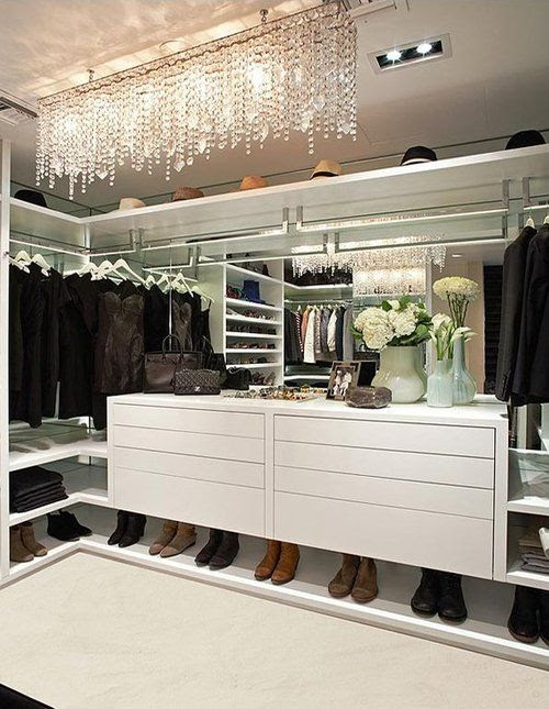 Babe!! This is what I need in our next house, cause by then I will have hundreds of sneakers!!!!! LA Closet Design - Style Estate