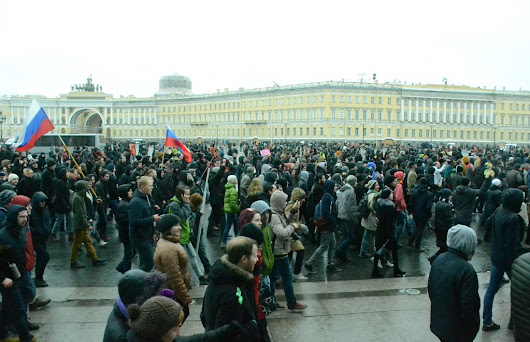 Anticorruption protest in St Petersburg on March 26