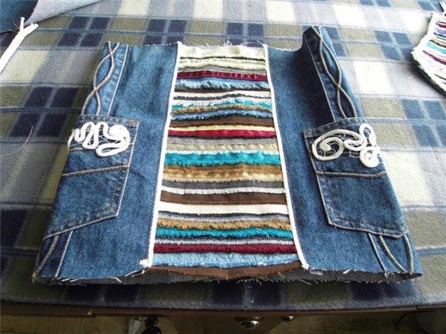 как сделать рюкзак своими руками из джинсов #1
