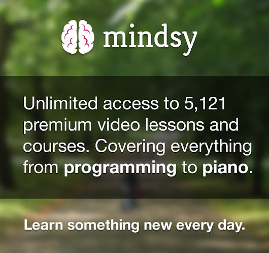 5,000 Online Video Lessons from Mindsy - only $14 - MightyDeals