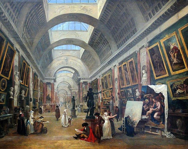 Fichier:Hubert Robert - Projet d'aménagement de la Grande Galerie du Louvre (1796).JPG