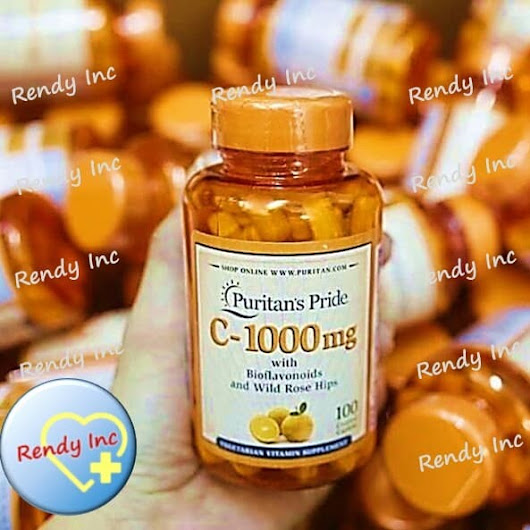 Puritan Pride Vitamin C 1000mg with Bioflavonoids&Rose Hips 100 Caps - Rendy Inc | Tokopedia