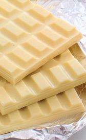 chocolate blanco, alimento rico en calorías