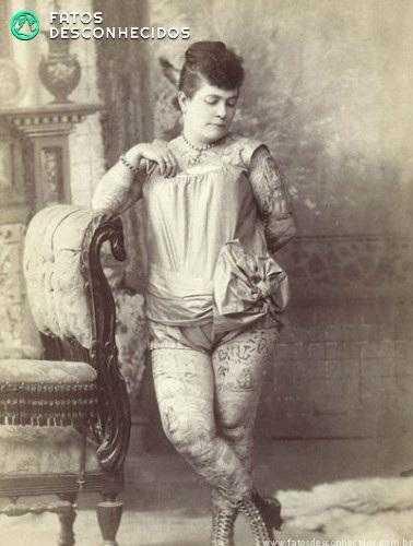 As primeiras mulheres tatuadas da história